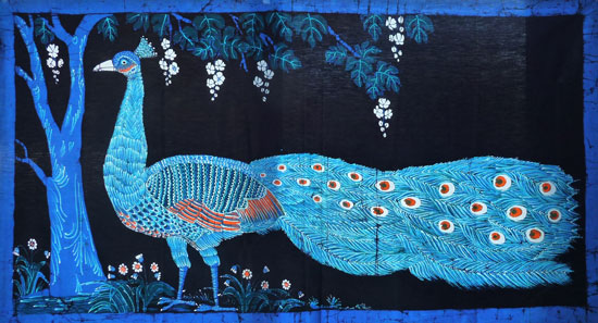 Peacock in Blue - Large